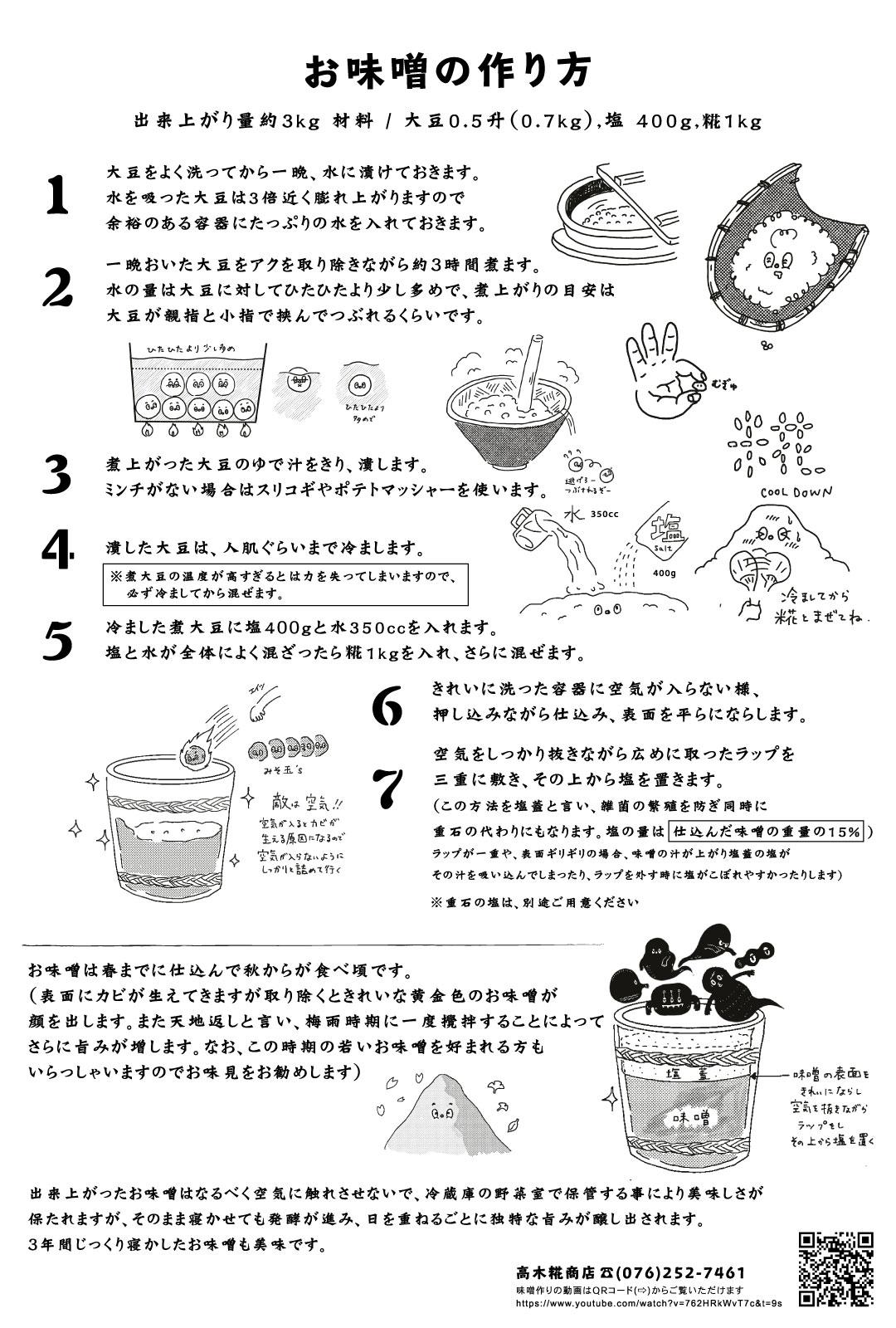 お味噌の作り方