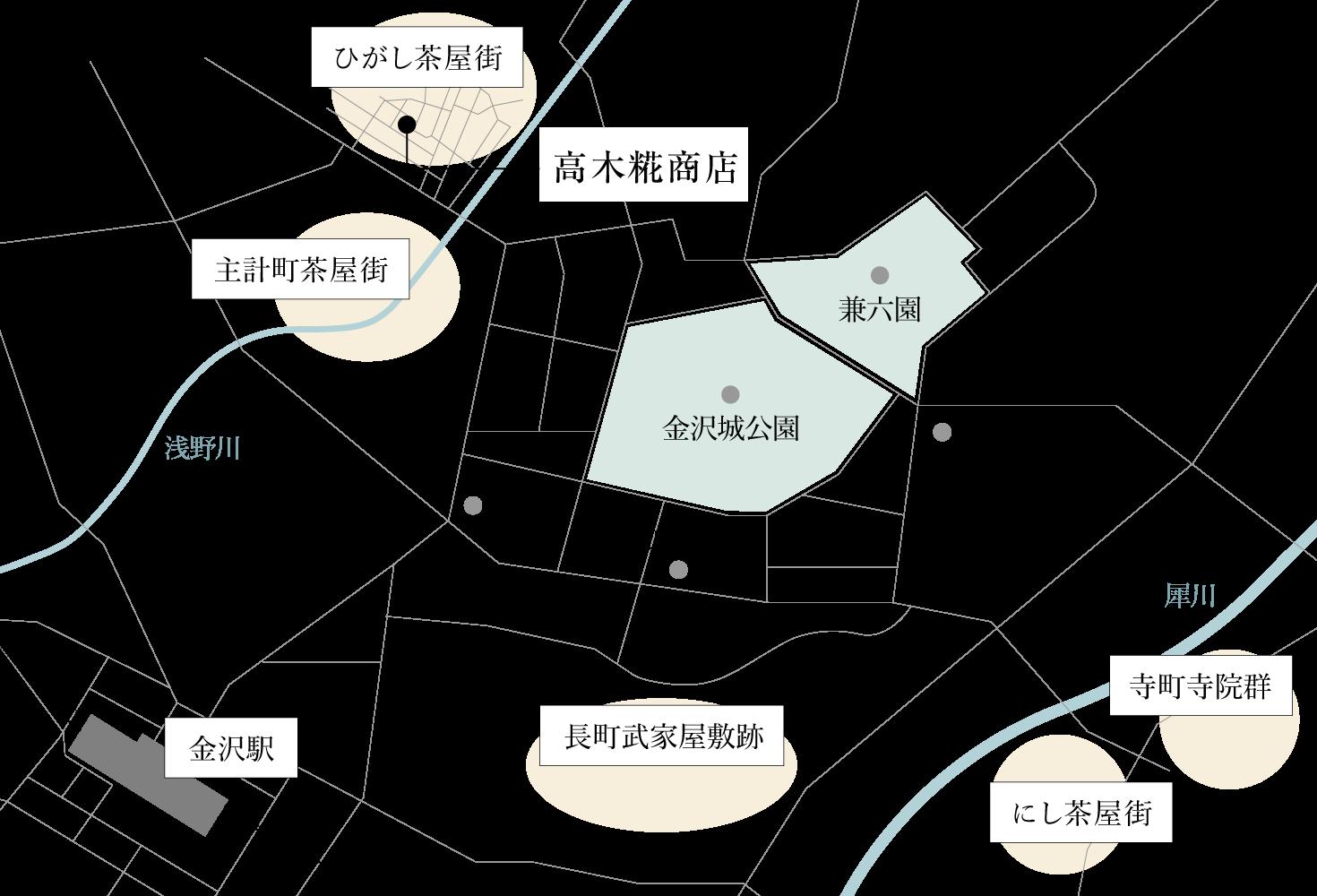 金沢市近郊地図
